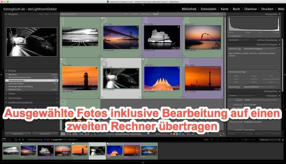 Lightroom Expertentipp - Fotos inklusive Bearbeitung auf Zweitrechner übertragen, (Foto copyright - Frank Weber - Berlin - fotologbuch.de)