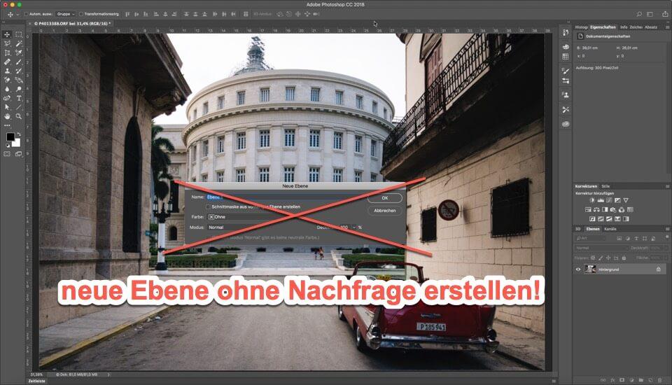 Photoshop Quicktipp - Neue Ebene ganz schnell erstellen, (Foto copyright - Frank Weber - Berlin - fotologbuch.de)