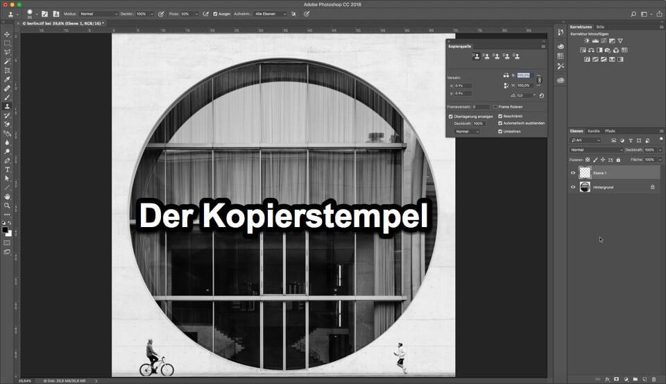 "Fotologbuch lernt Photoshop - Korrekturwerkzeuge ""Der Kopierstempel"", (Foto copyright - Frank Weber - Berlin - fotologbuch.de)"