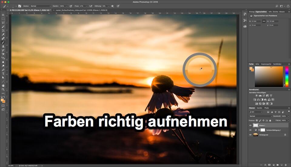 Photoshop Quicktipp – Farben aufnehmen und was muss ich dabei beachten
