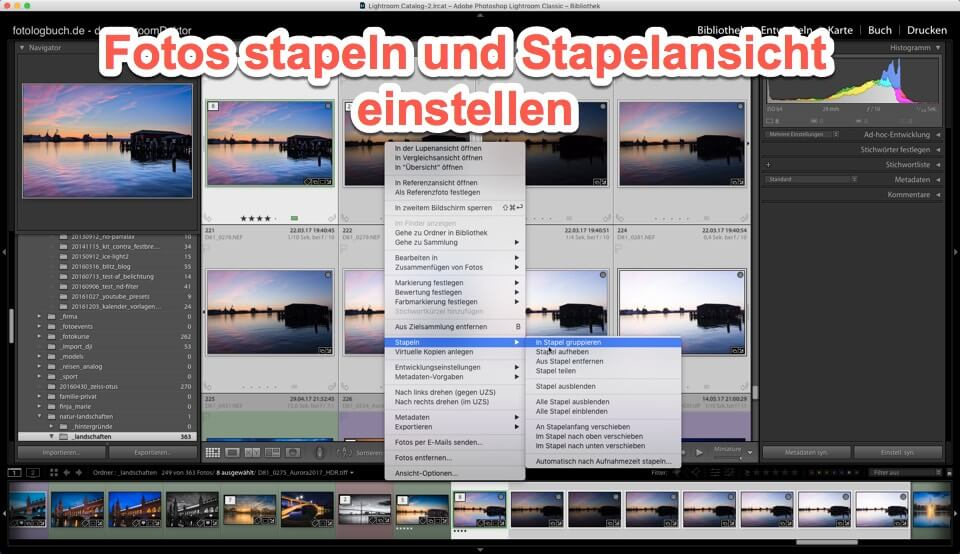 Lightroom Quicktipp – Fotos stapeln und Primärfoto einstellen