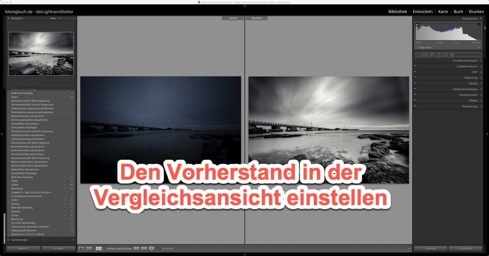 Lightroom - Quicktipp Modul Entwickeln - Den Vorherstand in der Vergleichsansicht einstellen, (Foto copyright - Frank Weber - Berlin - fotologbuch.de)