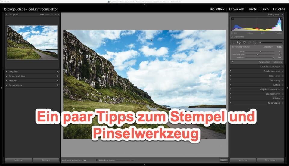 Lightroom Expertentipp - Ein paar Tipps zum Stempel und Pinselwerkzeug, (Foto copyright - Frank Weber - Berlin - fotologbuch.de)