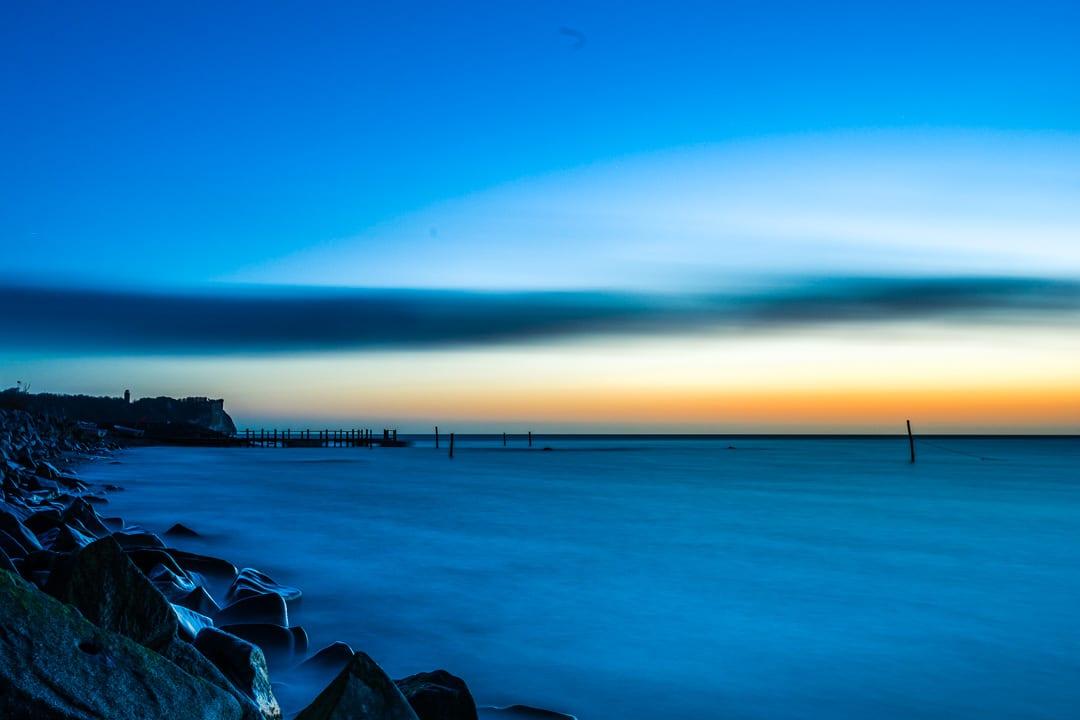 Morgens am Hafen von Vitt auf Rügen, (Foto copyright - Frank Weber - Berlin - fotologbuch.de)