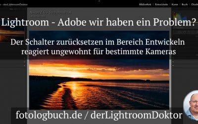 Lightroom Reset Entwicklung - Adobe wir haben ein Problem, (Foto copyright - Frank Weber - Berlin - fotologbuch.de)