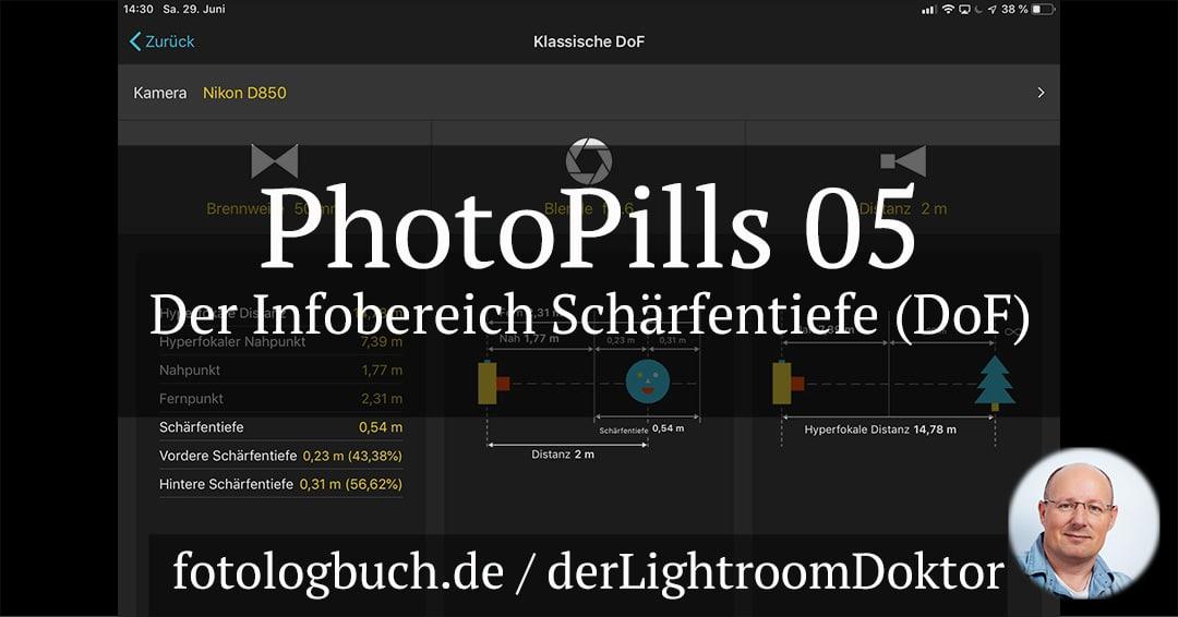 Die App PhotoPills – 05 Der Bereich Schärfentiefe (DoF)