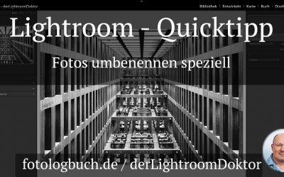 Lightroom Quicktipp - Fotos umbenennen speziell, (Foto copyright - Frank Weber - Berlin - fotologbuch.de)