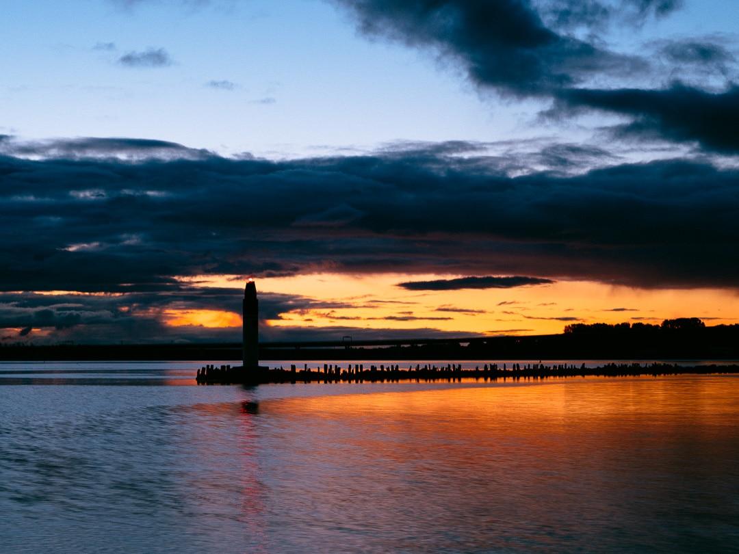 Sonnenaufgang im Hafen von Stralsund, (Foto copyright - Frank Weber - Berlin - fotologbuch.de)