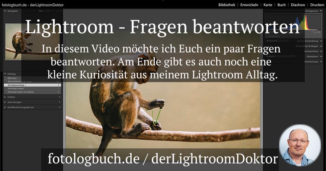Lightroom – Eure Fragen beantworten