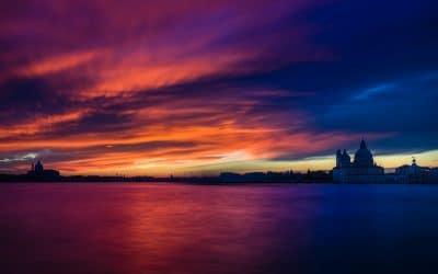 Sonnenuntergang in Venedig oder der Himmel brennt, (Foto copyright - Frank Weber - Berlin - fotologbuch.de)