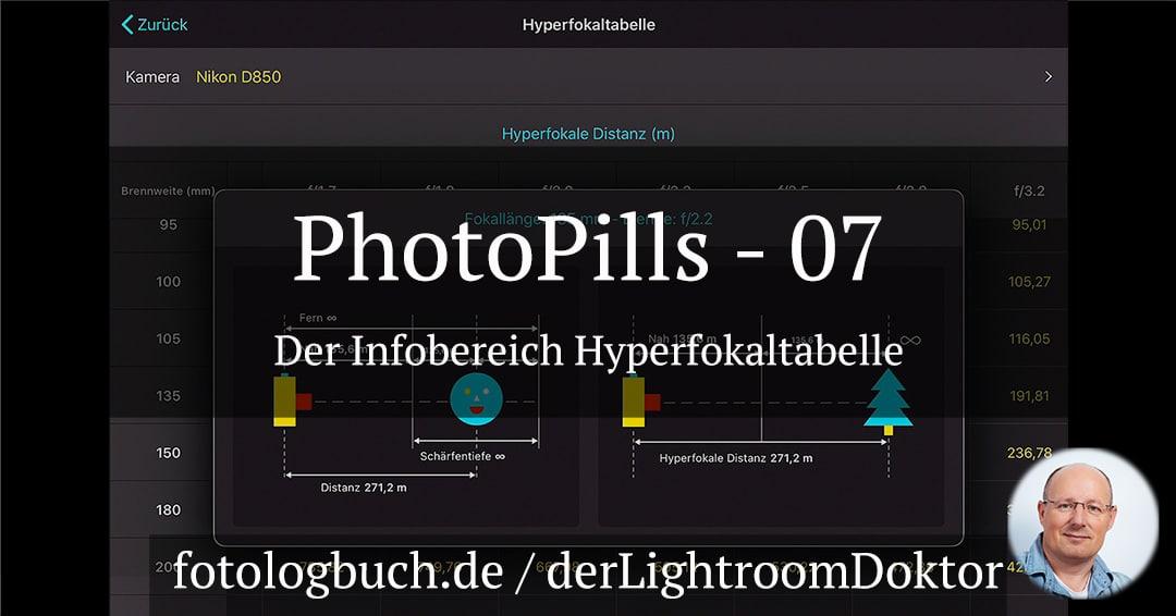 Die App PhotoPills – 07 Der Bereich Hyperfokaltabelle