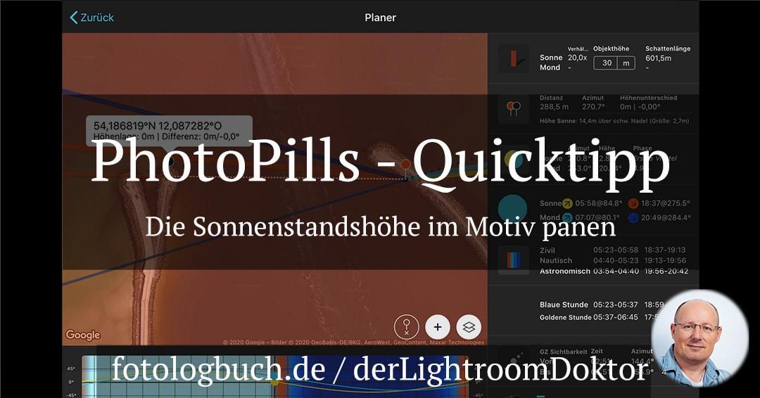 PhotoPills Quicktipp – Die Sonnenstandshöhe im Motiv mit planen