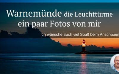 Ein paar Fotos von den Leuchttürmen in Warnemünde, (Foto copyright - Frank Weber - Berlin - fotologbuch.de)