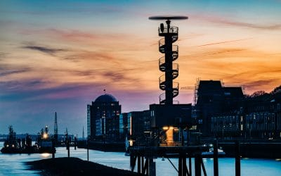 Abends an der Norderelbe in Hamburg unterwegs, (Foto copyright - Frank Weber - Berlin - fotologbuch.de)