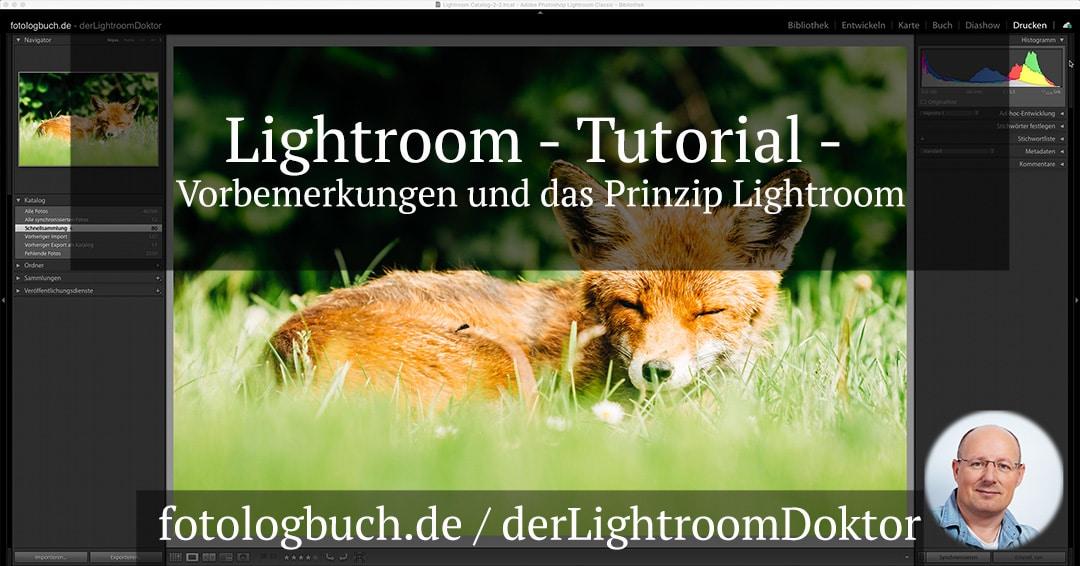 Lightroom Tutorial – Vorbemerkungen und das Prinzip Lightroom