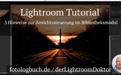 Lightroom Tutorial - 3 Hinweise zur Ansichtssteuerung im Bibliotheksmodul