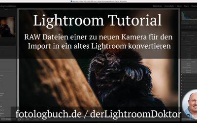 Lightroom Tutorial - RAW Dateien für den Import in ein altes Lightroom konvertieren