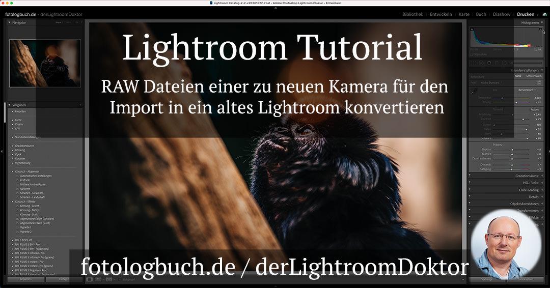 Lightroom Tutorial – RAW Dateien für den Import in ein altes Lightroom konvertieren