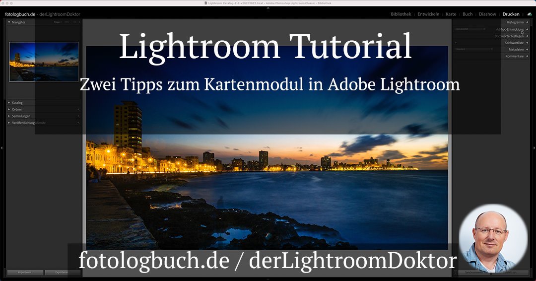 Lightroom Tutorial – Zwei Tipps zum Kartenmodul in Adobe Lightroom