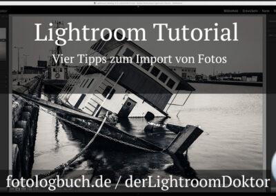 Lightroom Tutorial – Vier Tipps zum Import von Fotos