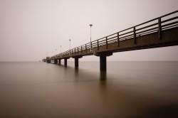 Beispielfoto Langzeitbelichtung - Seebrücke Ahlbeck, (Foto copyright - Frank Weber - Berlin - fotologbuch.de)