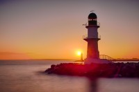 Fotos – Leuchtturm Warnemünde bei Sonnenaufgang