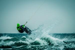 Fotorecht praktisch umgesetzt – Kite Surfer in Warnemünde