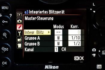 Nikon D800 Einstellung zwei Remoteblitze, (Foto copyright - Frank Weber - Berlin - fotologbuch.de)