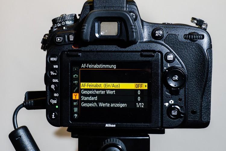 Menü AF-Feinabstimmung - Nikon, (Foto copyright - Frank Weber - Berlin - fotologbuch.de)