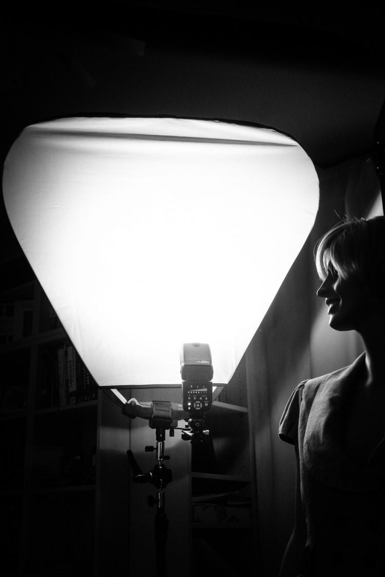 Weiches Blitzlicht mit dem Lastolite Trigrip Haltegriff, (Foto copyright - Frank Weber - Berlin - fotologbuch.de)