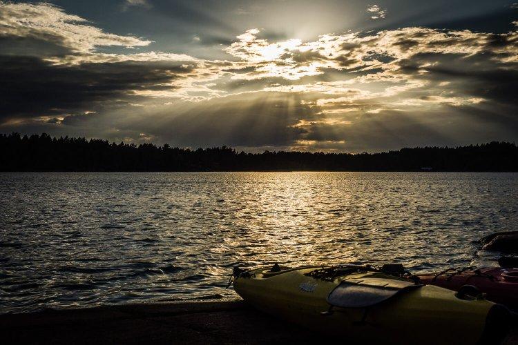 Schweden Sonnenuntergang, (Foto copyright - Frank Weber - Berlin - fotologbuch.de)
