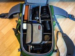Mein neuer Fotorucksack mit kompletter Olympus Ausrüstung - Mindshift Gear Backlight 26 Liter Outdoor, (Foto copyright - Frank Weber - Berlin - fotologbuch.de)