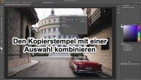 Fotologbuch lernt Photoshop – Den Kopierstempel mit einer Auswahl kombinieren